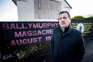 John Teggart, standing in the Ballymurphy area of west Belfast, where his father Daniel Teggart, was among those killed in the series of shootings between August 9-11, 1971. Credit: Liam McBurney/PA Wire