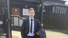 Caolan Murray outside court last week.