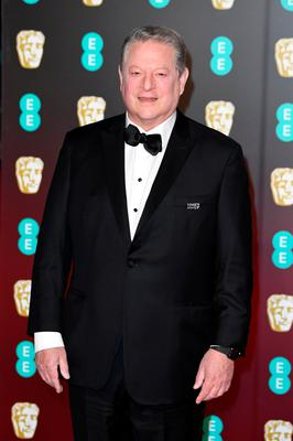 LONDON, ENGLAND - FEBRUARY 18:  Former Vice President of the United State Al Gore attends the EE British Academy Film Awards (BAFTA) held at Royal Albert Hall on February 18, 2018 in London, England.  (Photo by Jeff Spicer/Jeff Spicer/Getty Images)