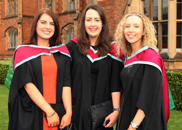 Laura Shepherd from Cookstown, Katie Mooney from Ballyclare and Morgan Semple from Omagh.