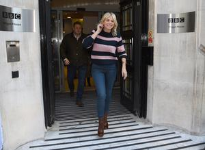 Zoe Ball leaves the Radio 2 Breakfast Show at BBC Broadcasting House in London (Kirsty O'Connor/PA)