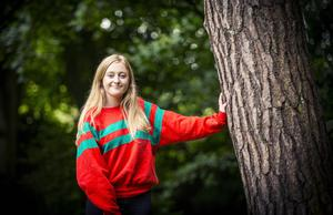 A-Level results day 2016 - Eve Wilson of Victoria Collage on the 18th August 2016, Belfast , Northern Ireland ( Photo by Kevin Scott / Belfast Telegraph )