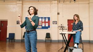 Undated film still handout from Military Wives. Pictured: Kristin Scott Thomas Kate and Sharon Horgan as Lisa. PA Feature SHOWBIZ Film Reviews. Picture credit should read: PA Photo/Lionsgate Films/Aimee Spinks. All Rights Reserved. WARNING: This picture must only be used to accompany PA Feature SHOWBIZ Film Reviews.