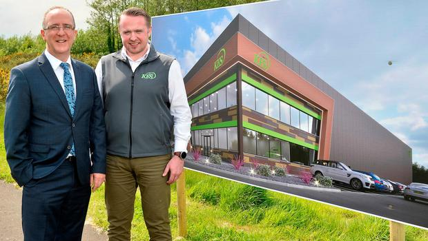 Des Gartland of Invest NI (left) with Conor McCrossan of the KES Group