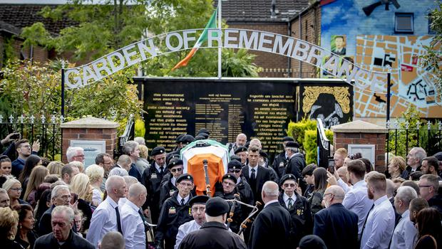 The funeral of Alex Murphy takes place on the Falls road in west Belfast August 19th 2019 (Photo by Kevin Scott for Belfast Telegraph)