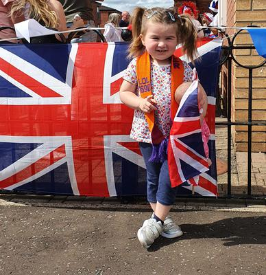 Abigail Flack from east Belfast celebrates the Twelfth. Picture sent in by mum Lisa Flack.