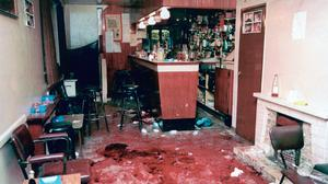 The scene inside the bar in Loughinisland (PA)