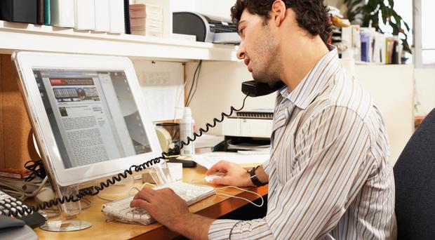 A single phone number can be used for a landline and a mobile in the office