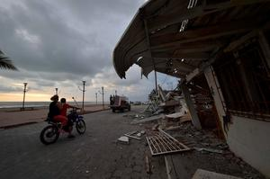 Picture taken in one of Ecuador's worst-hit towns, Pedernales, a day after a 7.8-magnitude quake hit the country, on April 17, 2016. Rescuers in Ecuador raced to dig out victims trapped under the rubble of homes and hotels on Sunday after a powerful 7.8-magnitude earthquake killed at least 246. / AFP PHOTO / RODRIGO BUENDIARODRIGO BUENDIA/AFP/Getty Images