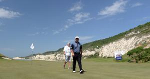 KAVARNA, BULGARIA - MAY 18:  Graeme McDowell of Northern Ireland during the last 16 matches on day three of the Volvo World Match Play Championship at Thracian Cliffs Golf & Beach Resort on May 18, 2013 in Kavarna, Bulgaria.  (Photo by Ross Kinnaird/Getty Images)