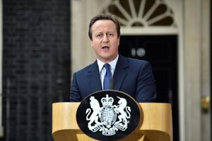 David Cameron makes a speech outside 10 Downing Street in London, before leaving for Buckingham Palace for an audience with Queen Elizabeth II to  formally resign as Prime Minister. PA
