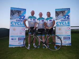 Randal with Brian and Paul who will take part in the All Ireland Cycle Challenge