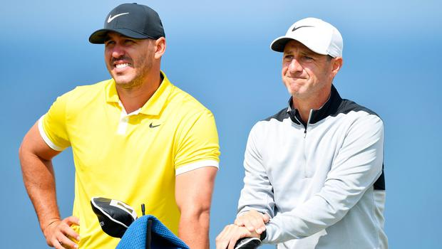 World No.1 Brooks Koepka (left) will be at Adare Manor in July for the JP McManus Pro-Am with Portrush caddy Ricky Elliott (right)