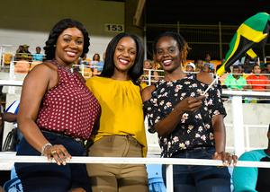 The beautiful game - football fans from around the world -   Fans of Jamaica Tallawahs during Match 23 of the 2017 Hero Caribbean Premier League between Jamaica Tallawahs and St Lucia Stars at Sabina Park on August 25, 2017 in Kingston, Jamaica.