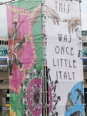The Little Italy banner