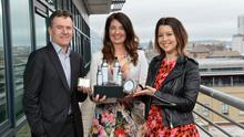 Jim Curran and Claudine Owens of Clarendon Fund Managers, which manages HBAN in Northern Ireland, are pictured with Yolanda Cooper, founder of WeAreParadoxx