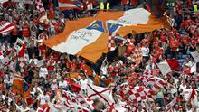 Just fan-tastic: Armagh and Tyrone supporters at Croke Park for the 2005 All-Ireland semi-final. Photo: Dan Sheridan/INPHO