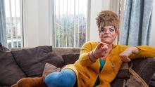 Gerry Walls dressed as his character Sadie Devine for his new 'Belfast Ma' play.  Gerry is pictured at his North Belfast Home.  Picture Colm O'Reilly