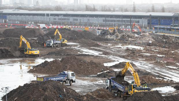 Construction work has already started on Phase One of HS2, with diggers pictured at Old Oak Common, in west London (Aaron Chown/PA)