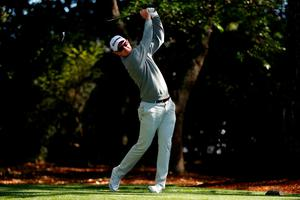 AUGUSTA, GEORGIA - APRIL 07:  Justin Rose of England plays his shot from the second tee during the first round of the 2016 Masters Tournament at Augusta National Golf Club on April 7, 2016 in Augusta, Georgia.  (Photo by Kevin C. Cox/Getty Images)
