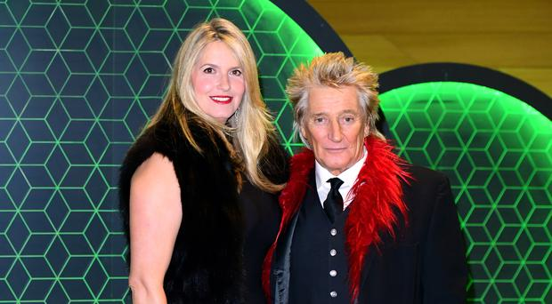 Penny Lancaster and Sir Rod Stewart (Ian West/PA)