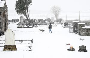 Snow on the outskirts of Armoy in Northern Ireland. Photo Colm Lenaghan/Pacemaker Press