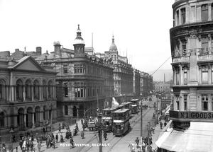 Belfast. Titanic Era. Royal Avenue © National Museums Northern Ireland Collection Ulster Folk & Transport Museum