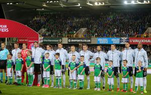 Press Eye Belfast - Northern Ireland 5th October 2017  FIFA World Cup Russia 2018 - Qualifying Group C - Northern Ireland Vs Germany at the National Football Stadium at Windsor Park, south Belfast.   Germany team line out  Picture by Jonathan Porter/PressEye.com