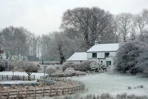 """Snow in Ballymena, Co Antrim, as blizzard conditions are set to sweep in, bringing """"a real taste of winter to the whole of the UK"""". Niall Carson/PA Wire"""