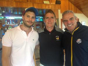 Jamie, Martin Blaney, Club Captain and Europe's 2014 Ryder Cup winning captain Paul McGinley.