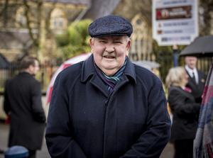 David Hunter as the funeral of Harry Gregg takes place at St PatrickÕs Church in Coleraine on February 21st 2020 (Photo by Kevin Scott for Belfast Telegraph)