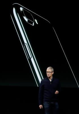 Apple CEO Tim Cook speaks about the iPhone during an announcement of new products Thursday, Oct. 27, 2016, in Cupertino, Calif. (AP Photo/Marcio Jose Sanchez)