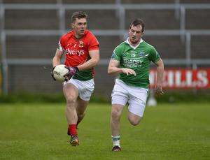 """4th May 2013 """"Together For Sam"""" Fundraising G.A.A. Match between Fermanagh and Mayo at Brewster Park, Enniskillen Mayos Seamus McLaughlin in action at Saturday Nights Game."""