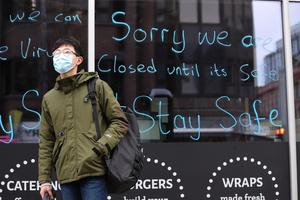 General view of members of the public in Belfast city centre on Wednesday 25th March 2020 as members of the public take precautions against the Covid 19 virus. Photo by Press Eye