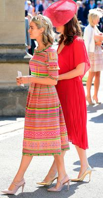 Cressida Bonas arrives for the wedding ceremony of Britain's Prince Harry, Duke of Sussex and US actress Meghan Markle at St George's Chapel, Windsor Castle, in Windsor, on May 19, 2018. / AFP PHOTO / POOL / Ian WestIAN WEST/AFP/Getty Images