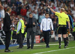 FILE - JUNE 02, 2013:  Jose Mourinho has been confirmed as Chelsea FC manager, returning to the club for a second term in charge, having left the club in 2007. MADRID, SPAIN - APRIL 27:  Jose Mourinho the coach of Real Madrid gives a thumbs up to the assistant referee as he is sent off to the stands during the UEFA Champions League Semi Final first leg match between Real Madrid and Barcelona at Estadio Santiago Bernabeu on April 27, 2011 in Madrid, Spain.  (Photo by Alex Livesey/Getty Images)
