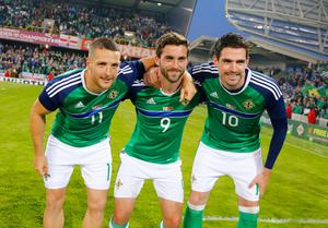 Conor Washington, Will Grigg and Kyle Lafferty