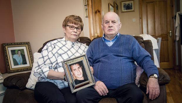 Breege and Stephen Quinn parents of Paul Quinn at home in Cullyhanna (Photo by Kevin Scott for Belfast Telegraph)