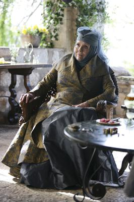 Dame Diana Rigg as Olenna Tyrell in the HBO series Game Of Thrones (HBO/PA)