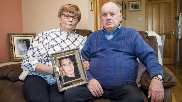 Breege and Stephen Quinn parents of Paul Quinn at home in Cullyhanna on February 5th 2020 (Photo by Kevin Scott for Belfast Telegraph)