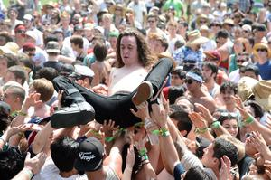 INDIO, CA - APRIL 13:  Singer Lee Spielman of Trash Talk performs onstage during day 2 of the 2013 Coachella Valley Music & Arts Festival at The Empire Polo Club on April 13, 2013 in Indio, California.  (Photo by Frazer Harrison/Getty Images for Coachella)