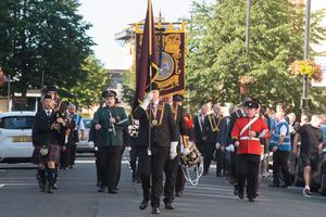 The Apprentice Boys of Derry held their annual Relief of Derry commemoration parade in Londonderry on Saturday. Picture Martin McKeown. 08.08.20
