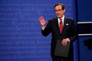 LAS VEGAS, NV - OCTOBER 19: Fox News anchor and moderator Chris Wallace speaks to the guests and attendees during the third U.S. presidential debate at the Thomas & Mack Center on October 19, 2016 in Las Vegas, Nevada. Tonight is the final debate ahead of Election Day on November 8.  (Photo by Chip Somodevilla/Getty Images)