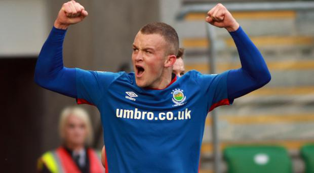 Linfield forward Michael O'Connor.