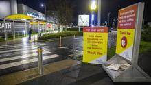 Signs at George Best Belfast City Airport (Liam McBurney/PA)