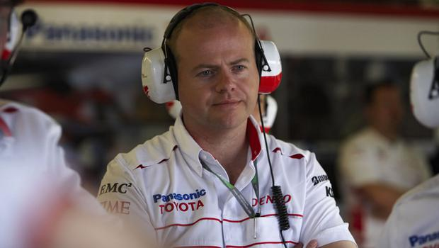 Richard Gillan's brother Mark during a F1 race