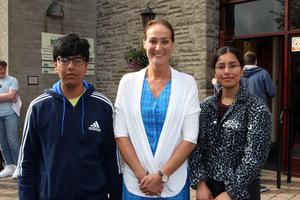 Mandatory Credit - Picture by Freddie Parkinson/Press Eye © Thursday 15 August 2019 Ballyclare High School A Level Results on the increase once again in Ballyclare High School. Dr Michelle Rainey Principal (Centre) with Nukul Rajpoot 4A at A level and his sister Deepshikha Rajpoot who gained 4 A at AS Level.