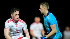 On hold: Tyrone's Liam Rafferty in action against Dublin last month