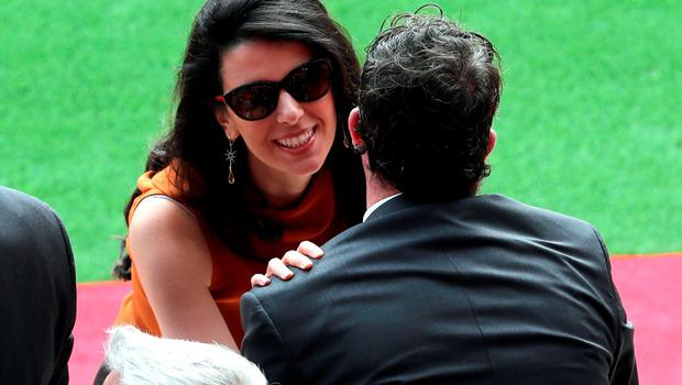 "Former Liverpool player Robbie Fowler is greeted by Linda Pizzuti wife of Liverpool owner John W Henry during the opening of the Anfield Main Stand, Liverpool. PRESS ASSOCIATION Photo. Picture date: Friday September 9, 2016. Photo credit should read: Peter Byrne/PA Wire. RESTRICTIONS: EDITORIAL USE ONLY No use with unauthorised audio, video, data, fixture lists, club/league logos or ""live"" services. Online in-match use limited to 75 images, no video emulation. No use in betting, games or single club/league/player publications."