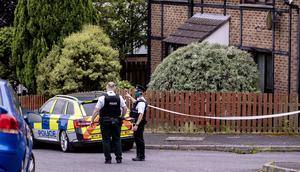 Police at the scene of the murder in the Windermere Road area of south Belfast on August 16th 2020 (Photo by Kevin Scott for Belfast Telegraph)